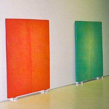 1950's Ice Cream coloured Blocks in Araash – Gallery Installation, New York