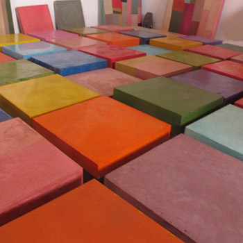 Coloured Concrete Blocks – Configuring Layout