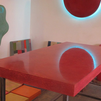 Pink Polished Concrete Table