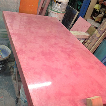 Rose Madder Pink Concrete Table Top