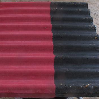 Coloured corrugated concrete