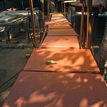 Terracotta to Pink cement samples for wall render – Mumbai, India
