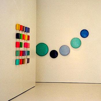 Brick Grid and Blue Stairway to Heaven – Gallery Installation, Zurich