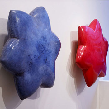 Lapis and Quindocrine Araash Lotus – Gallery Installation, London