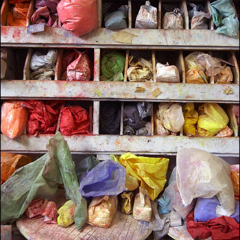 Storage of raw pigments – Studio, West London