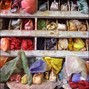 Storage of raw pigments – Studio, West London