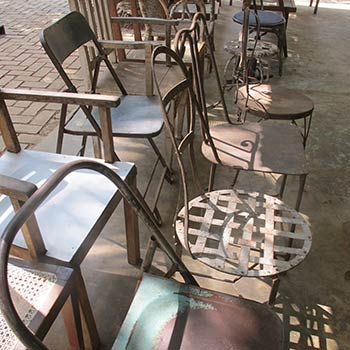 Metal chairs – Ali Bagh Workshop, Western India