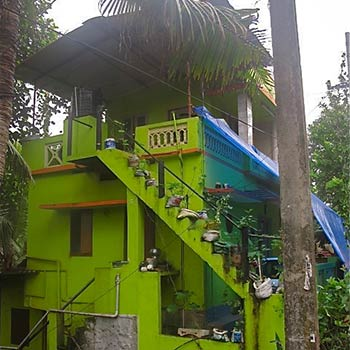 Lime green house – Kerala, South India