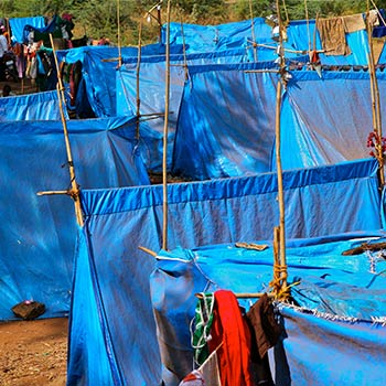 Tarpaulin City – Western India (by Mitul)