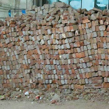 Dry Brick Wall – Gujerat, Western India