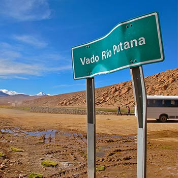 Signpost – Atacama desert, Northern Chile