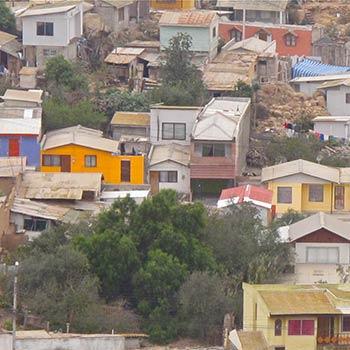 Coloured Housing – Valparaiso Region, Central Chile