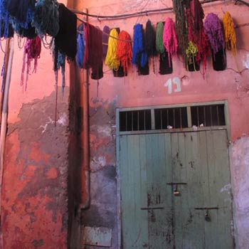 Drying Yarn – Marrakesh, Morocco