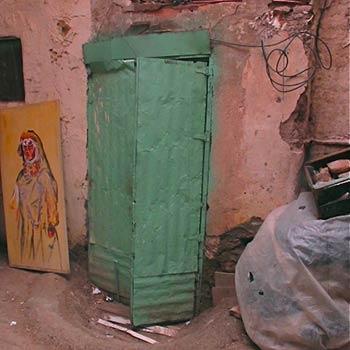 Corrugated Turquoise door – Marrakesh
