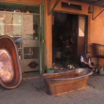 Copper Bath tub – Marrakesh, Morroco