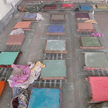 Drying out sample concrete blocks – New Delhi