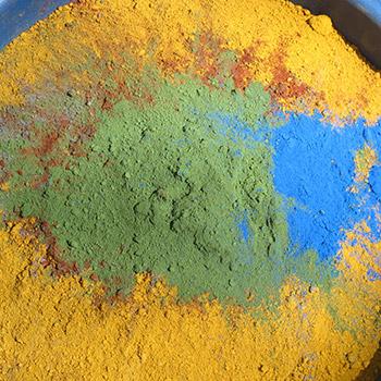 Mixing Raw Pigment – Studio, West london