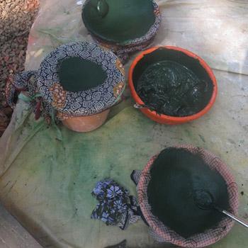Pigment and cement powder for concrete blocks – Studio west London