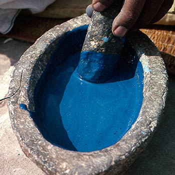 Grinding Lapis Lazuli with Lime