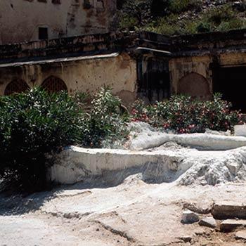 Slaked Lime pit –  jaipur, Rajasthan, Western India
