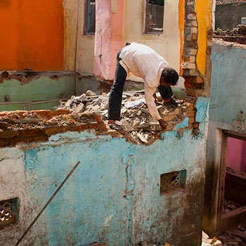 Demolishing homes – Western India, (by Mitul)
