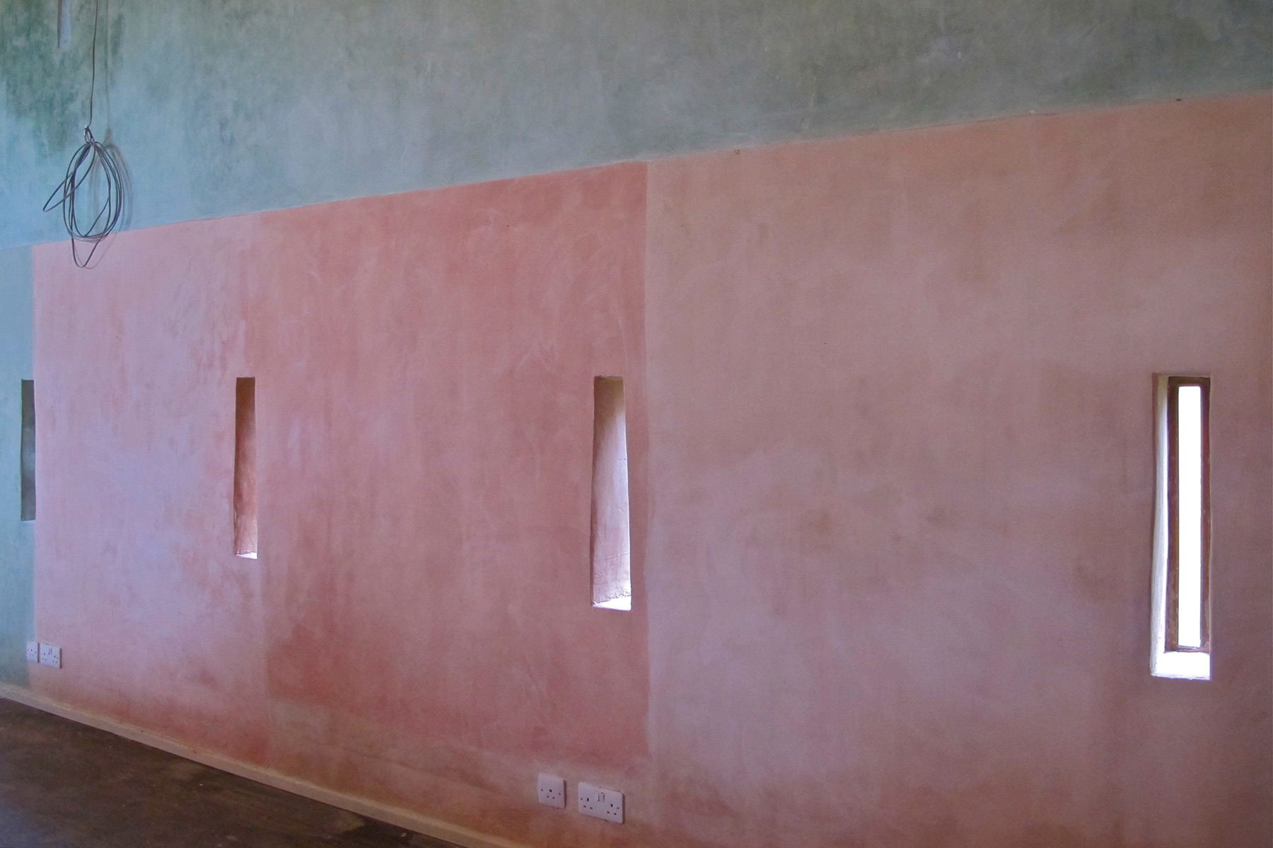 Captivating Blocks Of Hand Mixed Coloured Lime Wash Paint U2013 Barn Interior