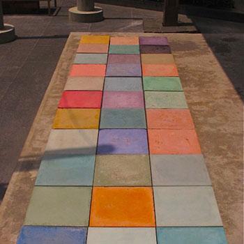 Coloured Concrete blocks