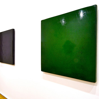 Deep Purple and Green Araash – Gallery Installation, London