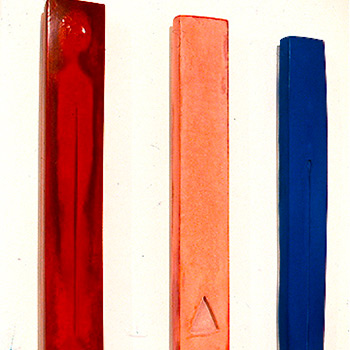 Votive Verticals in Red Pink and Blue with Recesses