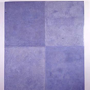 Lapis Lazuli Araash Fresco Block – Gallery Installation, London