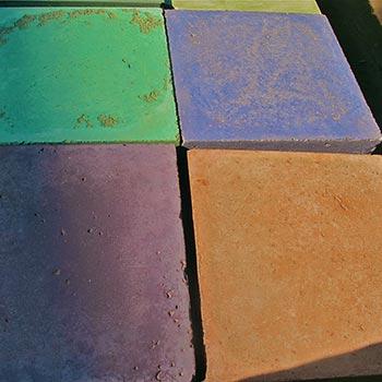 Sample coloured Concrete Blocks