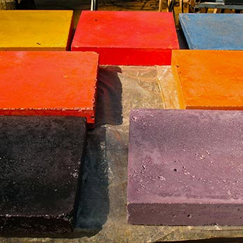 Samples of Coloured Concrete