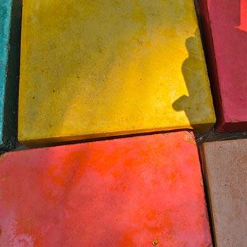 Sample Blocks of Coloured Concrete