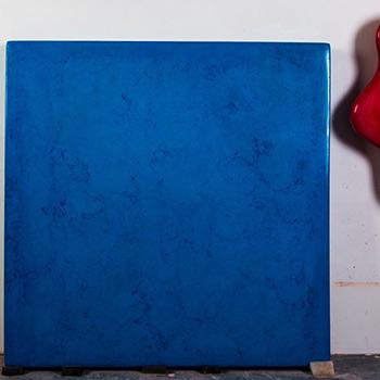 Cyan and Cobalt Blue Araash fresco