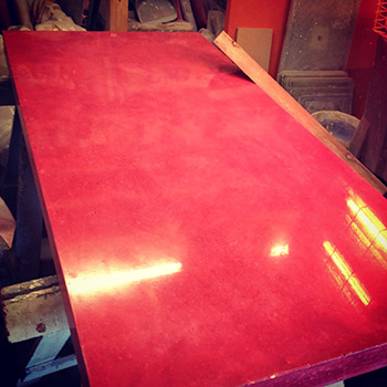Rose Madder Concrete Table
