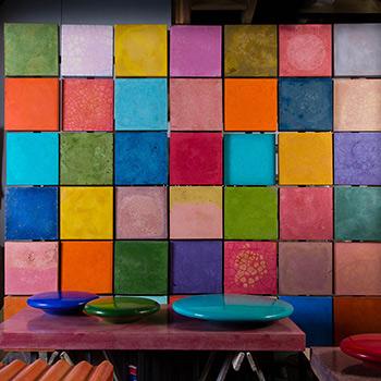 Coloured Concrete Wall