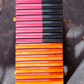 Cast Coloured Corrugated Concrete