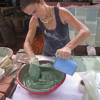 Mixing Pigment for Copper house project – Ali Bagh, Western India