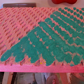 Inlaying Araash Fresco