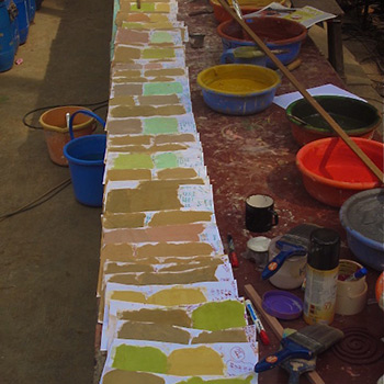 Colour samples for concrete mix –  Ahmedabad Project, Ali Bagh Western India