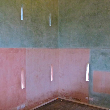 Hand Mixed Coloured Limewash Paint – Barn Interior on Beaulieu Estate, Hampshire