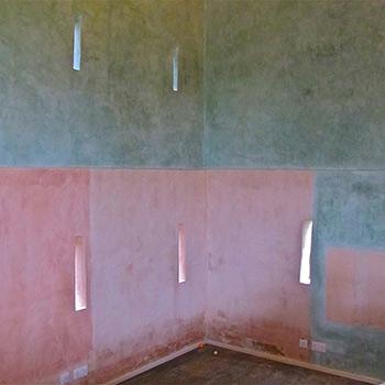 Hand Mixed Coloured Limewash Paint – Barn Interior on Beaulieu Estate, Hampshire