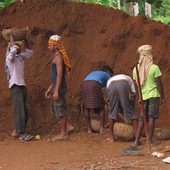 Shifting Earth for Foundations, Project using Off White Araash – Kerala, South India