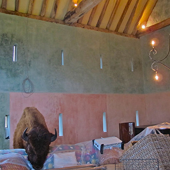 Limebased Paint in Barn on Beaulieu Estate