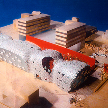 Orange Wall – Architectural Model for Alsop Architects