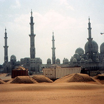 Sheikh Zayed Mosque, Abu Dhabi, UAE – Early stages