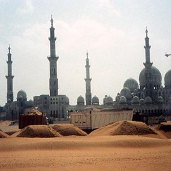 Sheikh Zayed Mosque, Abu Dhabi, UAE – Early stages
