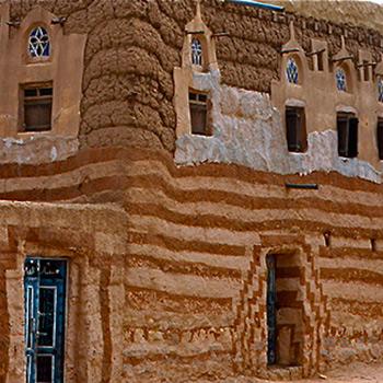 Painted Building, Near Sana'a, Yemen