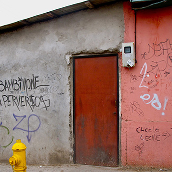 Doorway onto street, Fishing Village, Central Chile