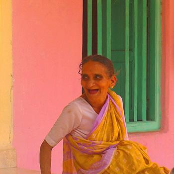 happy woman, Village in Madya Pradesh, Central India